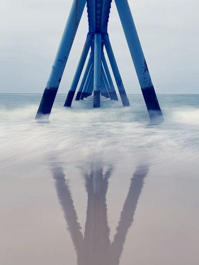 Tilt image of sea against sky