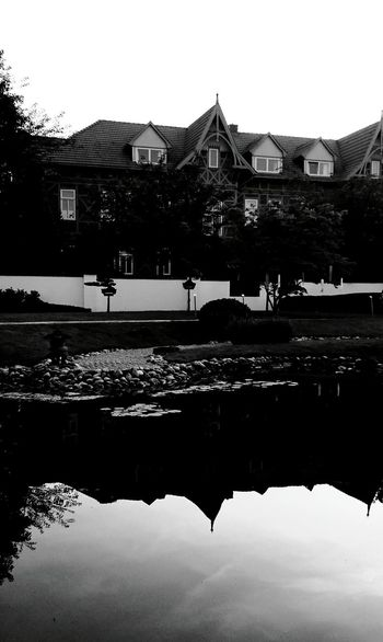 Reflection Black & White Silhouette Traveling Bad Langensalza Light And Shadow Monochrome