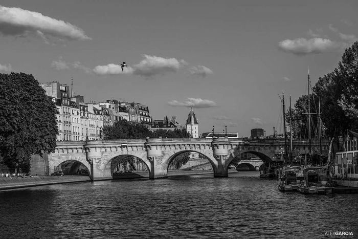 Paris Blackandwhite Photography Eyeemphotography Paris, France  River Seine Eyeemfrance Streetphotography Eyembestshots The Street Photographer - 2015 EyeEm Awards EyeEm 2015