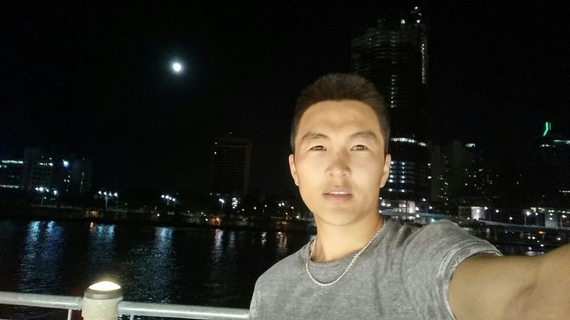 The moon and me. Brisbane River Night View Moon