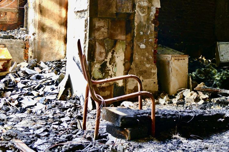 Burned House Burned Items Burned Out Colour Of Life Day Empty Building No People Uninhabitable