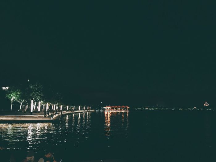 IPhoneography Night Traveling City Architecture Built Structure Illuminated Building Exterior Water Outdoors Waterfront No People City Sky Nature Walking 中國 Beautiful