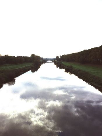Water Reflection Outdoors Tranquil Scene Nature Tranquility Day Sky Lake Beauty In Nature No People Scenics River View Orintation Without Prospects