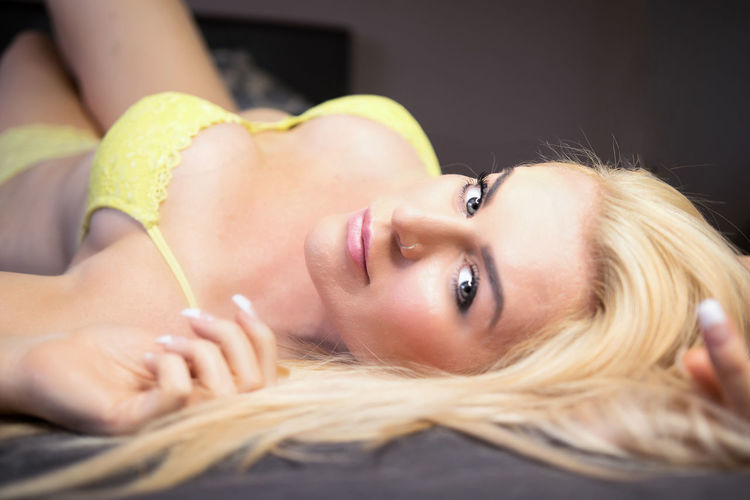 Beautiful Woman Blond Hair Close-up Looking At Camera One Person Women Young Adult Young Women