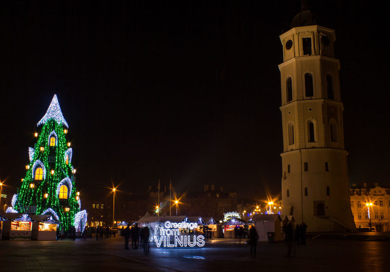 Greetings from Vilnius! Architecture Chirstmas Tree Christmas Market Christmas Time Famous Place Greetings International Landmark Long Exposure Night Street Light Streetphotography Tower