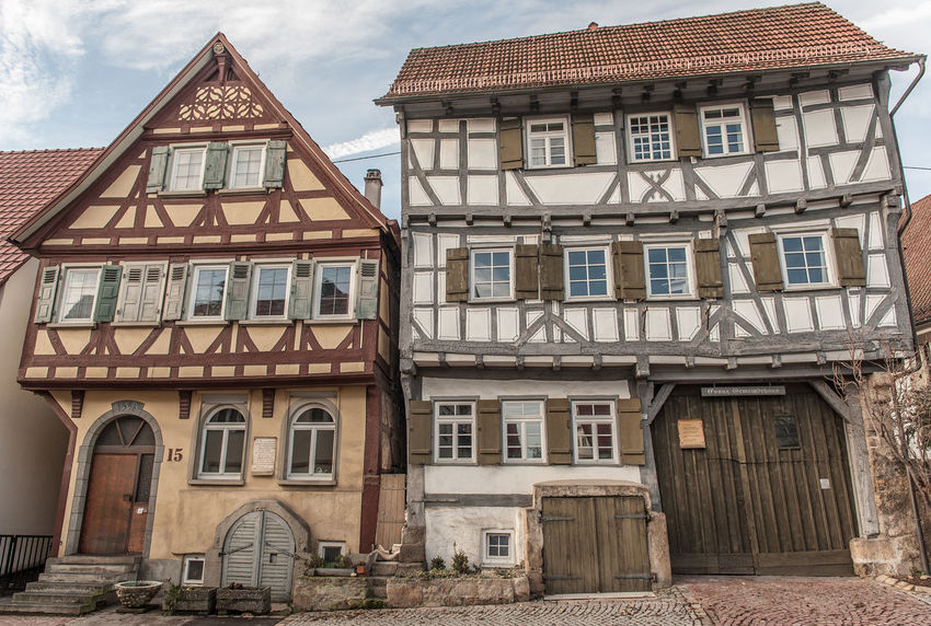 Grötzingen Arch Architectural Column Architecture Building Exterior Built Structure City Life Day Entrance Exterior Façade Historic History House No People Old Town Outdoors Residential Building Residential Structure Roof Sky Southern Germany Timbered House Town Townhouse Window