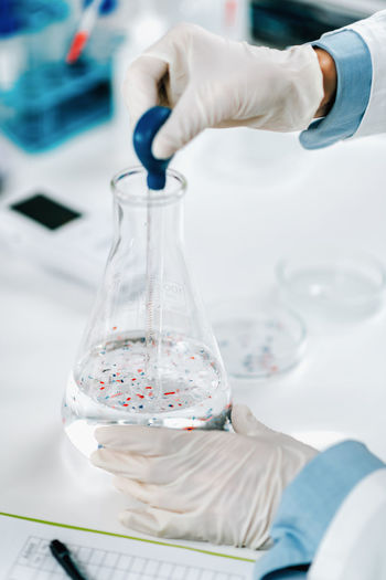 Microplastic pollution, water quality laboratory