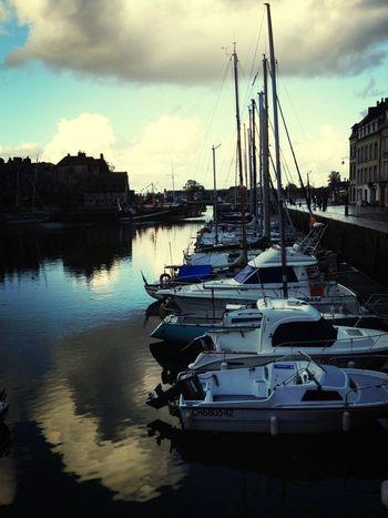 At Port D'Honfleur Boat France