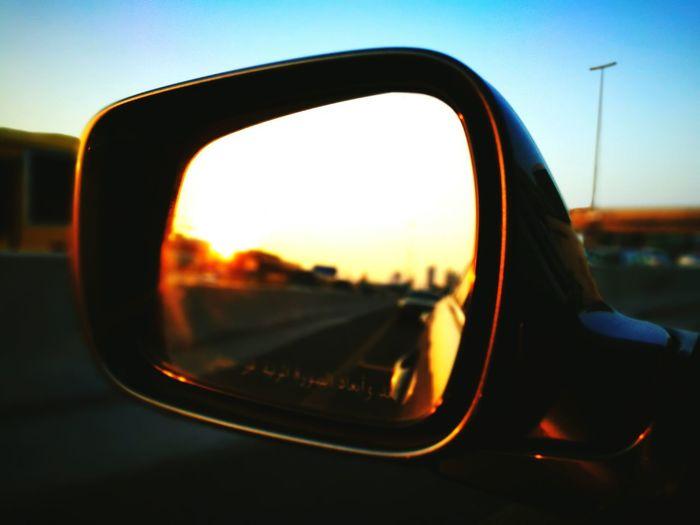 Sunset Side-view Mirror Street Travel Sky Vehicle Car Reflection Dubai Dubai❤ Traffic Jam