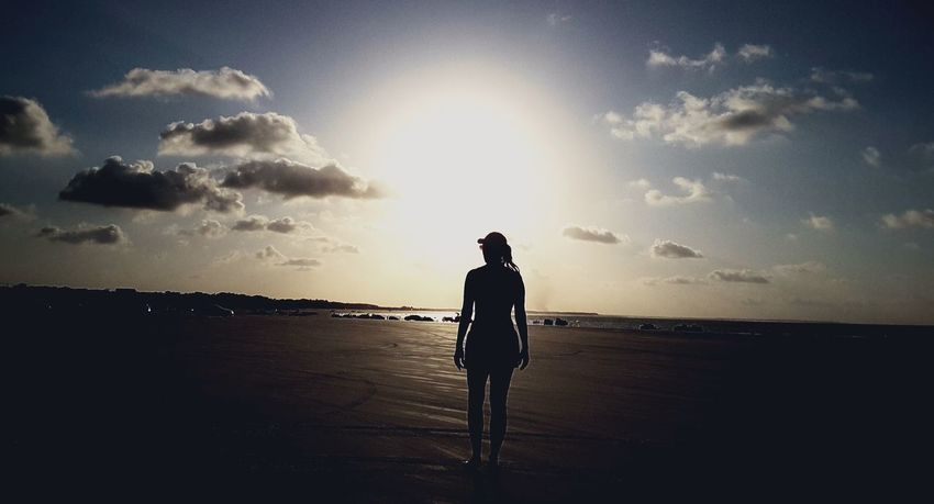 City of Salinópolis, Atalaia Beach, State of Pará, Amazon, Brazil. Silhouette Beach Sky Cloud - Sky Sunset Sea Adult