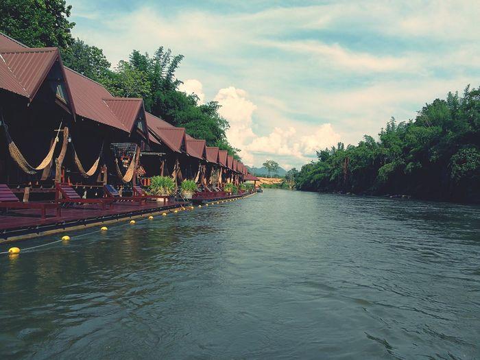 Travel in river kwai kanchanaburi thailand. Tourism Holiday Thailand Kanchanaburi River Kwai Tourist Lake Moutain Tree cottage Resort boat