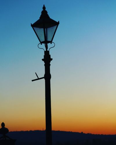 Sky Sunset Silhouette Lighting Equipment Street Street Light Orange Color
