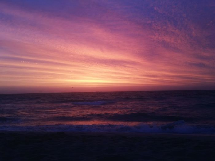 Sunset on west