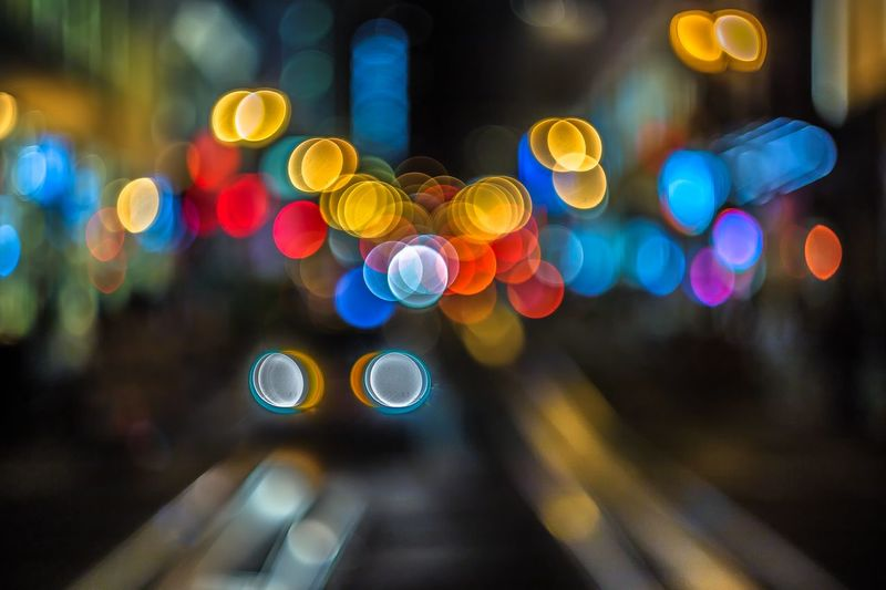 Bokeh on Powell St. San Francisco Bay Area Youcantflickwithus Bokeh Check This Out Cityscapes Popular Photos Night Photography Creative Power Eye4photography