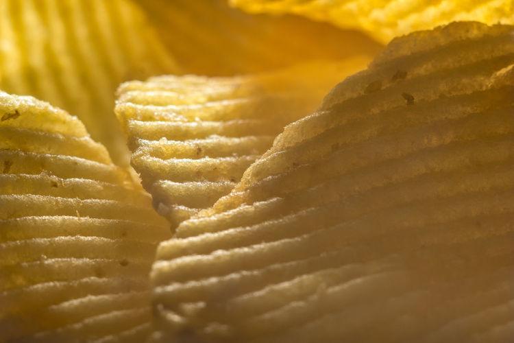 Full frame shot of potato chip