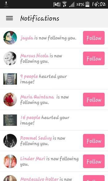 Success! Follow Me! On WeHeartIt! ^~^  Weheartit Folowers Pink And White Hearted