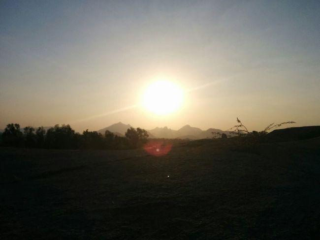 Sun Landscape Scenics Beauty In Nature Nature Sunset Mountain RuralIndia Rajasthan India Indianphotography Myyearmyview