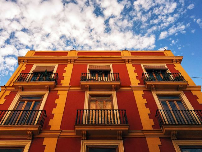 Architectural Detail Architecture Architecture_collection Bright Colors Clouds Colorful Colour Of Life Lookingup Sky SPAIN València