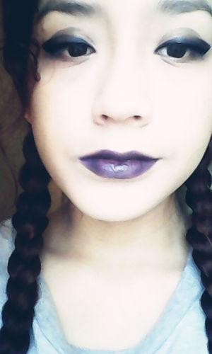 Dark Portrait Black Blue Lips Make Up