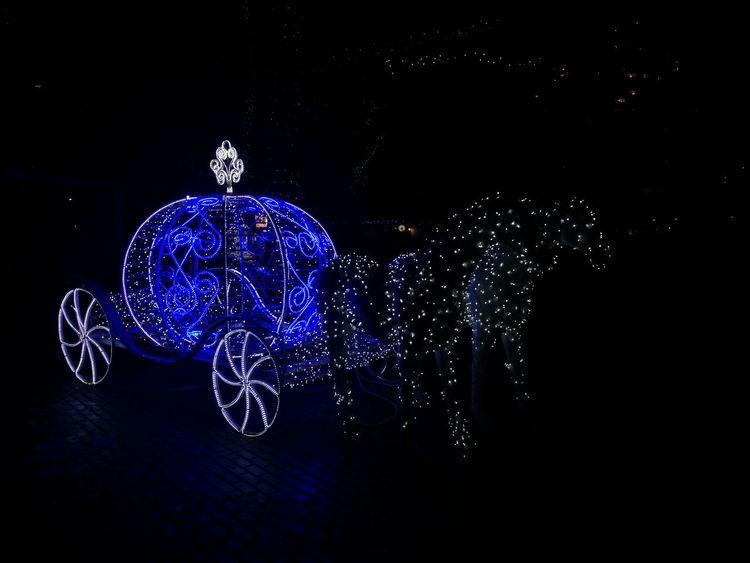 Newyear2018 Magicoflight Blue Night No People Illuminated Christmas Decoration