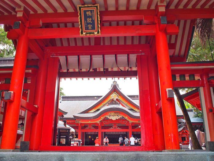 Aoshima Shrine Shrine Miyazaki, Japan Japan Red Architecture Entrance Gate Place Of Worship Travel Low Angle View