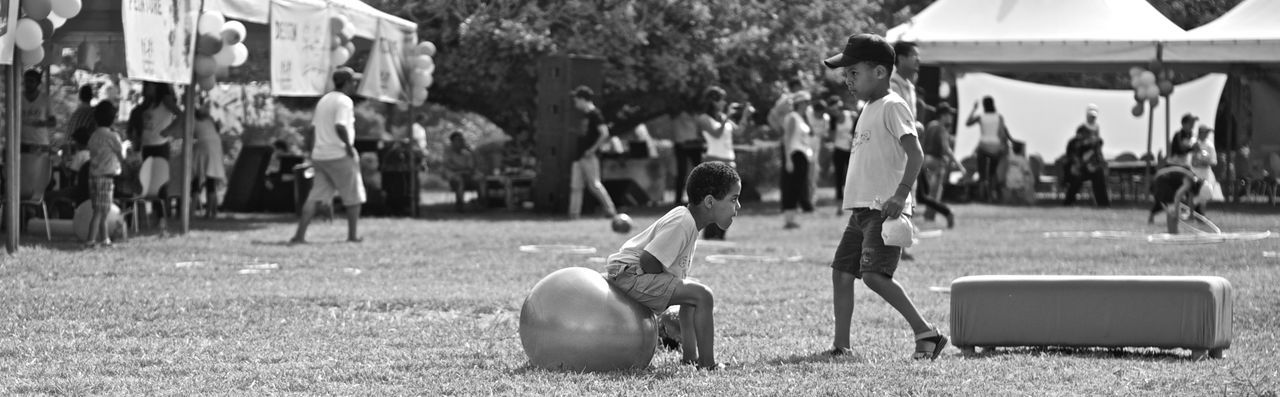 Blackandwhite Children Kids Leisure Activity Playing