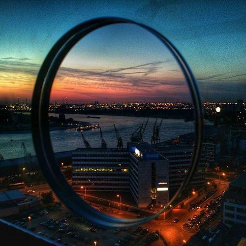 Instantwerpen Antwerpen Antwerp MAS Museumaandestroom Sunset Portofantwerp Rooftop Kranes