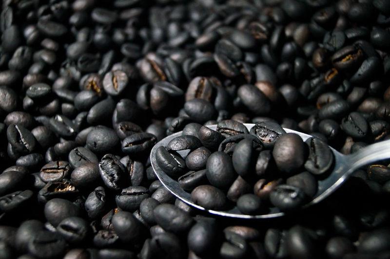 Full frame shot of coffee beans
