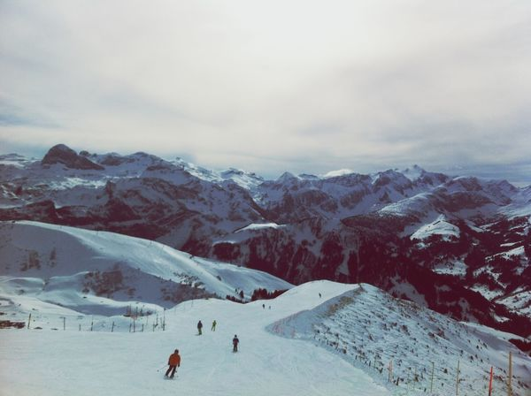 Skiing Winter Adelboden