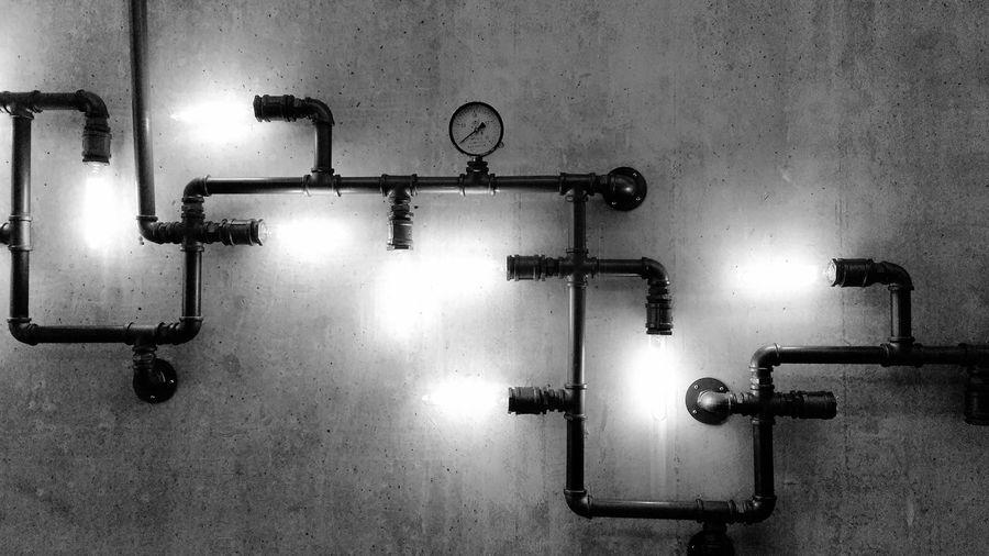 View of lighting equipment on wall