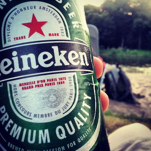 Bier Jungs Weserstrand Heineken sonne chillen beste