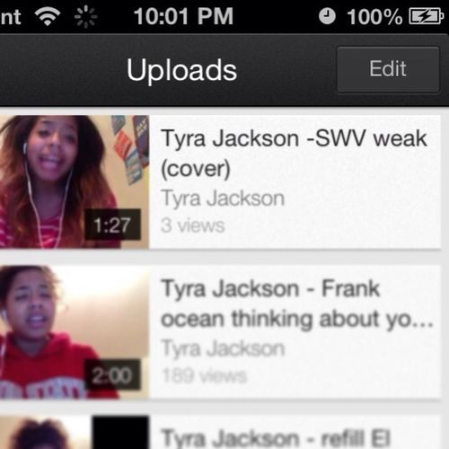 Go watch the video of me singing for Ty