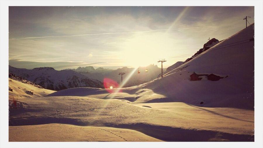 Sunset Snow Hello World
