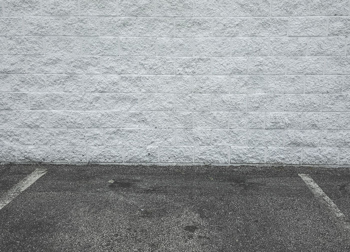Background Backgrounds Brick Wall Parking Lot Pavement Texture Wall White Brick White Brick Wall White Bricks