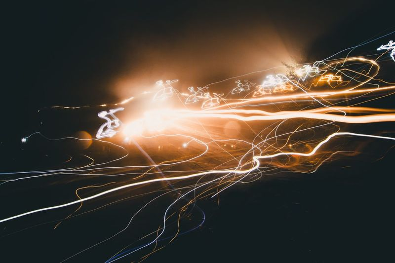 Happy Mistake. || Long Exposure Motion Electricity  Night Illuminated Light Trail
