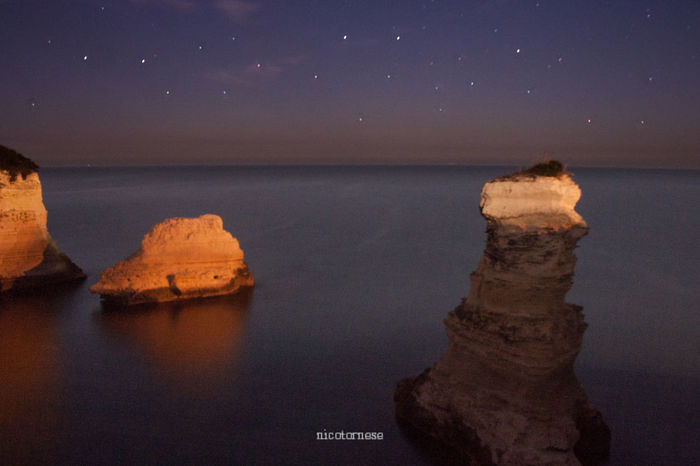 Sea Sky Beauty In Nature Nature No People Sunset Scenics Tranquility Outdoors Water Astronomy Day Stars Puglia Salento Salento Puglia Nature Horizon Over Water Travel Destinations Beauty In Nature Italy Italia