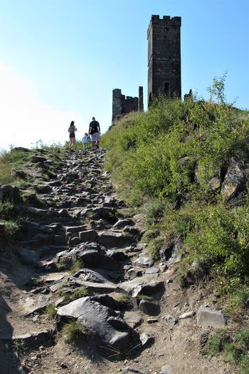 Castle Czech Republic Family Hazmburk Path Trip Architecture Building Exterior Built Structure Climbing Day Group Of People History Leisure Activity Lifestyles Outdoors People Sky Stones The Past Trail Travel Walking