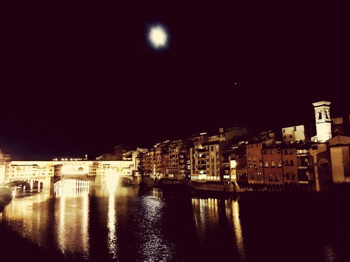 Building Exterior Architecture Night Built Structure Water Reflection Illuminated River Moonlight Waterfront