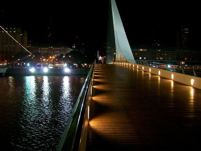Puente De La Mujer Tadaa Community Taking Photos Night Lights Light And Shadows