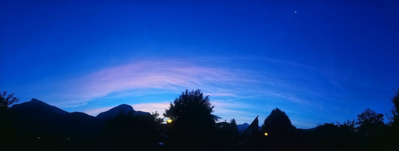 Tree Silhouette Mountain Astronomy Sunrise Beauty In Nature Beautiful Colors Savoie Morning View Morning Walk