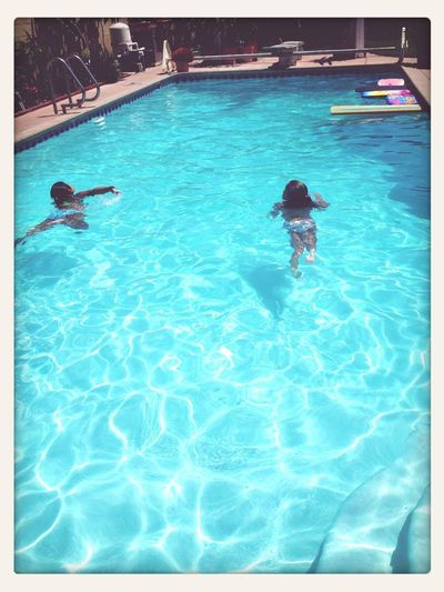 Swimming on a hott California day ..