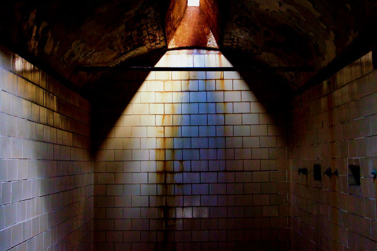 Prison Texture Abandoned & Derelict Penitentiary Dilapidated Tiled Wall Shower Light Source Pivotal Ideas