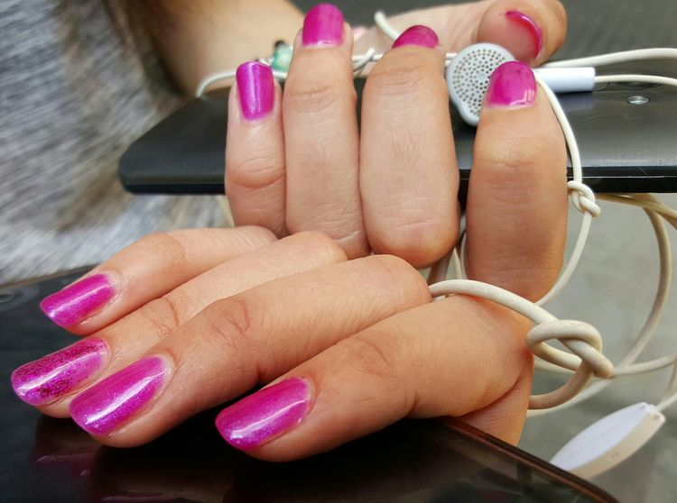 EyeEm Selects Fingernail Nail Polish Human Body Part Manicure Human Finger Human Hand Nail Art Indoors  Fashion Pink Color Painting Fingernails Close-up People Adult Lifestyles Beauty One Person Only Women Tehnology Mobilephone Photography No Fılter