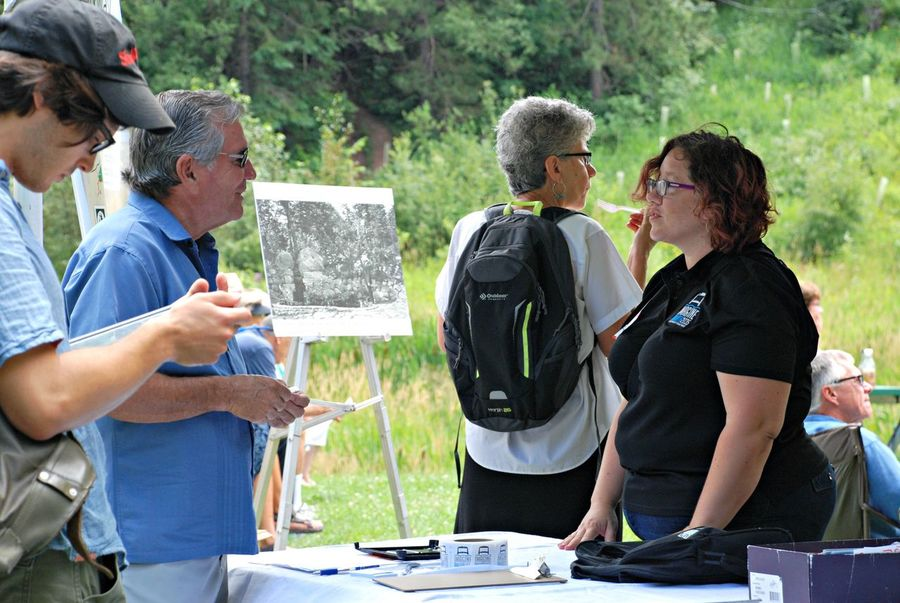 Information Table Help Talk Community Event Outdoors
