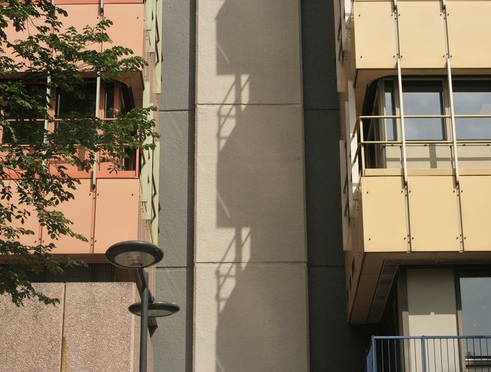 Street by building on sunny day