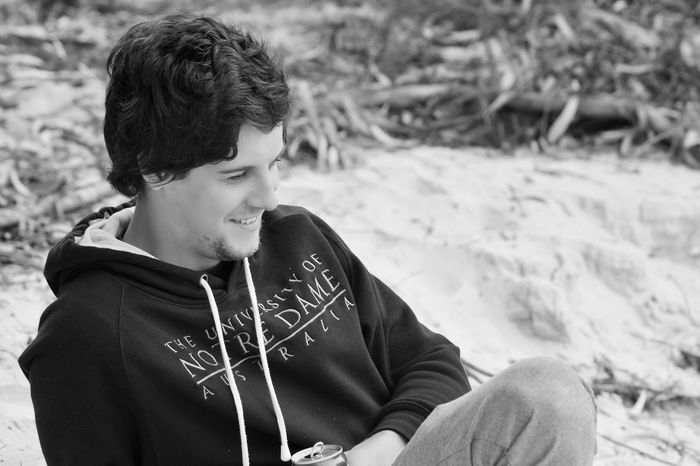 Beach Beachphotography Black & White Black And White Blackandwhite Blackandwhite Photography Boy Casual Clothing Focus On Foreground Laughing Leisure Activity Lifestyles Looking Down Man Men Model Outdoors Person Portrait Portrait Of A Friend Portrait Photography Portraits Smile Smile ✌ Smiling