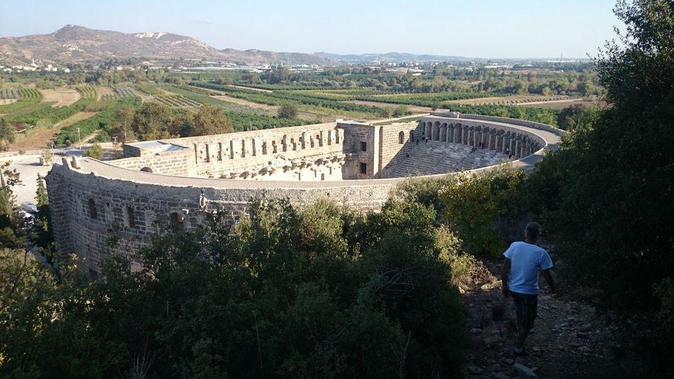 Historical Turkey Amphitheatre Aspendos Ancient Theatre Aspendos  On The Way Go Higher