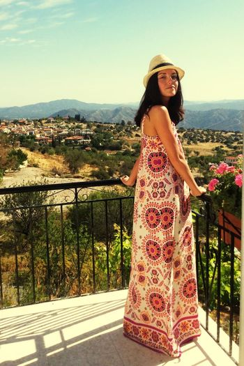 Cyprus Enjoying Life Relaxing Girl Traveling Mountains Colorful That's Me HandMadeDress