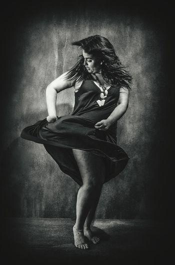 Flamenco dancer Young Women Full Length Beauty Beautiful People Females Women Beautiful Woman Sitting barefoot Depression - Sadness