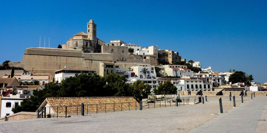 Ibiza Dalt Vila Ibiza Dalt Vila Ibiza Altstadt City Clear Sky Ancient Civilization Ancient Old Ruin History Sky Architecture Building Exterior